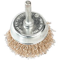 Sealey Brassed Steel Wire Cup Brush