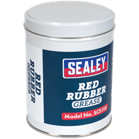 Sealey SCS110 Red Rubber Grease Tin
