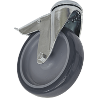 Sealey Bolt Hole Swivel Total Lock Castor Grey