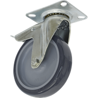 Sealey Swivel Plate Total Lock Castor Grey