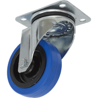 Sealey Swivel Plate Castor Blue Elastic