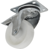 Sealey Swivel Plate Total Lock Castor White Polyamide