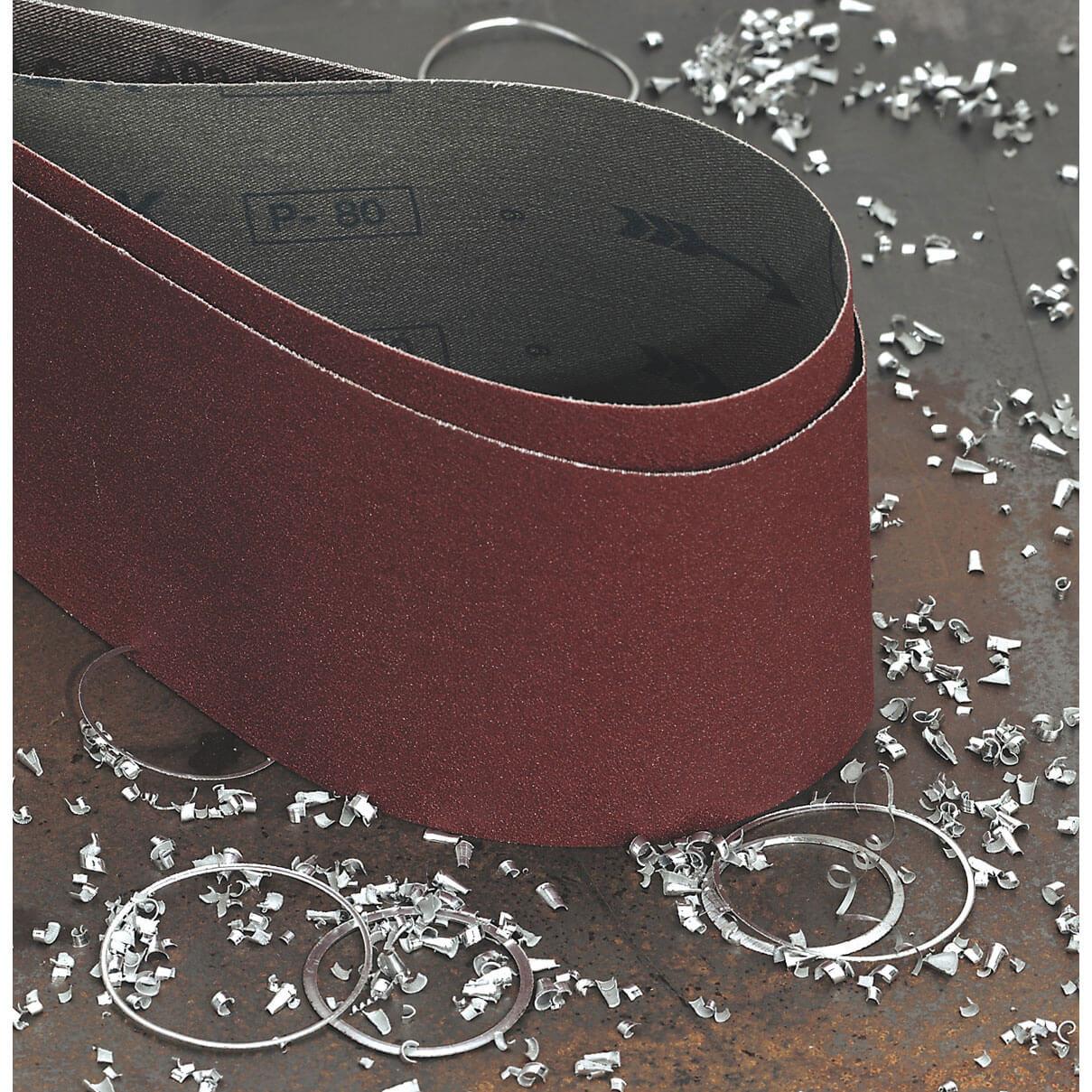 Image of Sealey 100mm x 1220mm Sanding Belt 100mm x 1220mm 80g Pack of 1