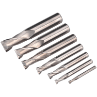 Sealey 7 Piece HSS End Mill Set
