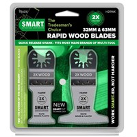 Smart 2 Piece Rapid Wood Blade Oscillating Multi Tool Blade Set