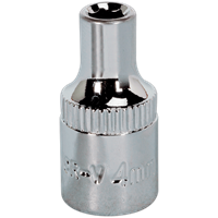 "Sealey 1/4"" Drive Hexagon WallDrive Socket Metric"