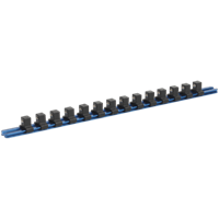 "Sealey 1/2"" Drive Aluminium Socket Retaining Rail 14 Clips"