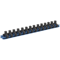 "Sealey 1/4"" Drive Aluminium Socket Retaining Rail 14 Clips"