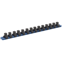 "Sealey 3/8"" Drive Aluminium Socket Retaining Rail 14 Clips"