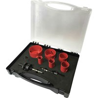 Sirius 9 Piece Electricians HSS Bi Metal Hole Saw Set