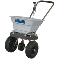 Sealey Stainless Steel Push Grass and Salt Broadcast Spreader