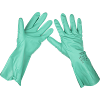 Sealey SSP34 Nitrile Gauntlets Gloves