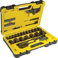 "Stanley Tech 3 61 Piece 1/2"" Drive Socket Set Metric"