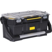 Stanley Plastic Tote Tool Box with Removeable Tool Organiser