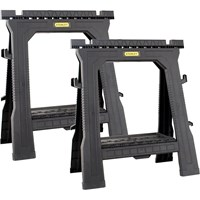 Stanley Pair Plastic Folding Sawhorse and Trestle