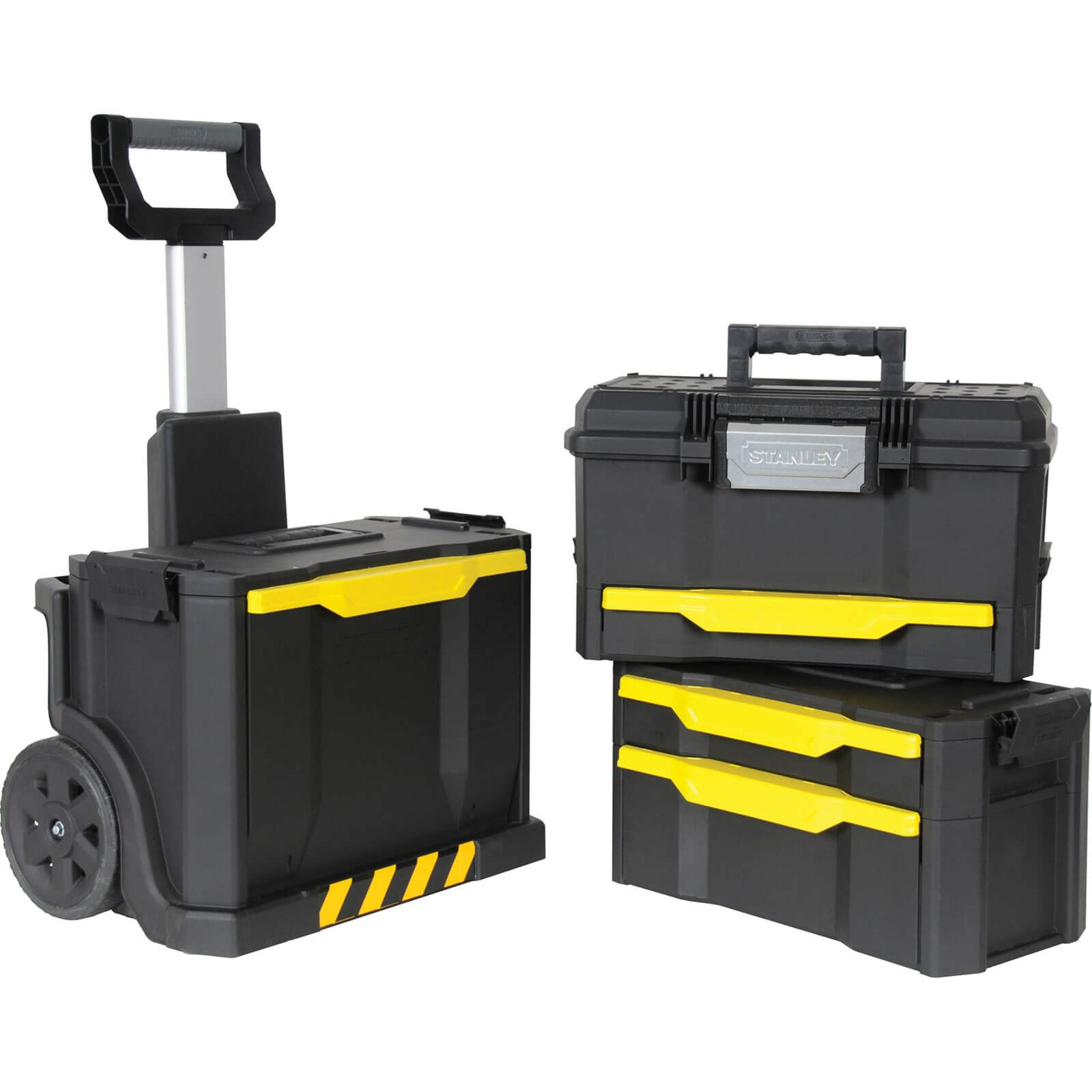 Stanley Rolling Wheeled Workshop Tool Box Stack   Tool Boxes