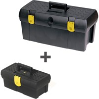 Stanley 2 Piece Plastic Tool Box Set