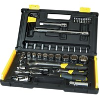 Stanley 50 Piece Combination Drive Microtough Socket & Bit Set Metric