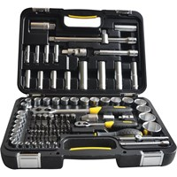 Stanley 96 Piece Combination Drive Socket & Bit Set Metric