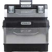 Stanley Galvanised Metal Rolling Work Centre Tool Box Stack