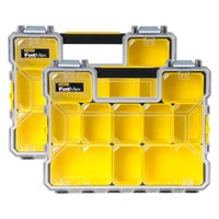 Stanley 2 Piece FatMax 10 Compartment Deep Pro Organiser Box