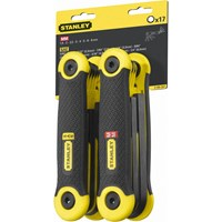 Stanley 17 Piece Folding Hexagon Allen Key Set Metric & Imperial