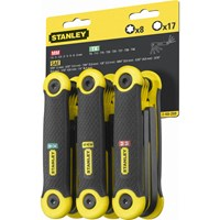 Stanley 25 Piece Folding Torx Hexagon Allen Key Set