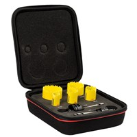 Starrett KDC05021 7 Piece Electricians Hole Saw Set