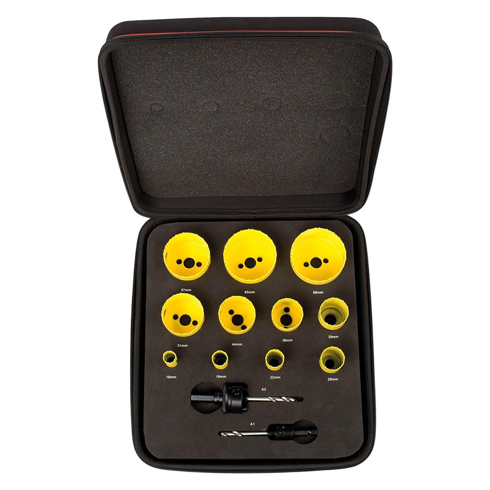 Bi-Metal Holesaw Set 19mm 22mm 29mm 38mm 44mm 57mm Plumbers Hole Cutter Saw Tool