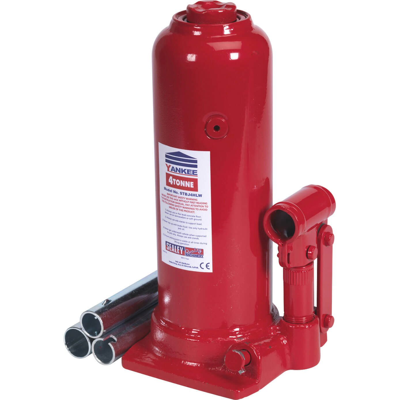 Image of Sealey Hydraulic Telescopic High Lift Yankee Bottle Jack 4 Tonne