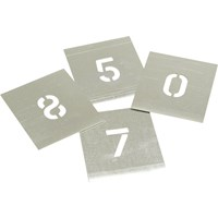 Stencils 8 Piece Zinc Number Stencil Set