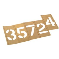 Stencils Interlocking Brass Number Stencil Set