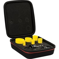 Starrett KFC06021 8 Piece Electricians Hole Saw Set