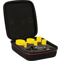 Starrett KFC06022 8 Piece Electricians Hole Saw Set