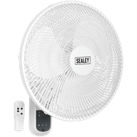 Sealey SWF16WR Remote Control Wall Fan 3 Speed