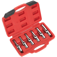 "Sealey 6 Piece 3/8"" Drive Glow and Spark Plug Socket Set"