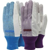 Town and Country Polka Dot Cotton Grip Ladies Gloves