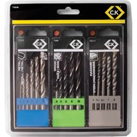 CK 16 Piece Wood, Metal & Masonry Drill Bit Set