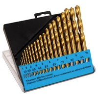 CK 19 Piece HSS TiN Drill Bit Set