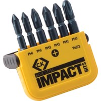 CK Blue Steel 6 Piece Impact Phillips Screwdriver Bit Set