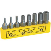 CK 8 Piece Security Hexagon Screwdriver Bit Set