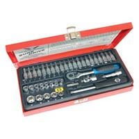 "CK 39 Piece 1/4"" Drive Sure Drive Hex Socket and Screwdriver Bit Set Metric"