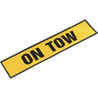 Sealey Magnetic On Tow Sign