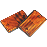 Sealey TB25 Reflex Reflector Amber Oblong