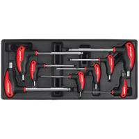 Sealey 8 Piece T Handle Ball End Hexagon Key Set Metric in Module Tray