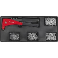 Sealey Riveter & Assorted Rivets Set in Module Tray