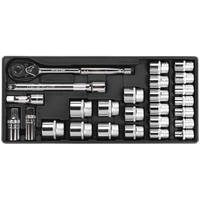 "Sealey 26 Piece 1/2"" Drive Socket Set Metric in Module Tray"