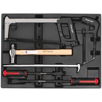 Sealey 6 Piece Hammer, Hacksaw and Pry Bar Set