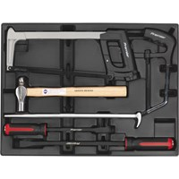 Sealey 6 Piece Hammer, Hacksaw & Pry Bar Set
