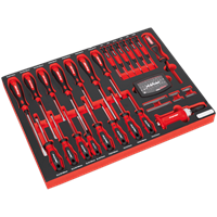 Sealey 72 Piece Screwdriver Set in Module Tray